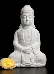 Cement Buddha Statue - Zen Home Decor - Serene Spaces Living